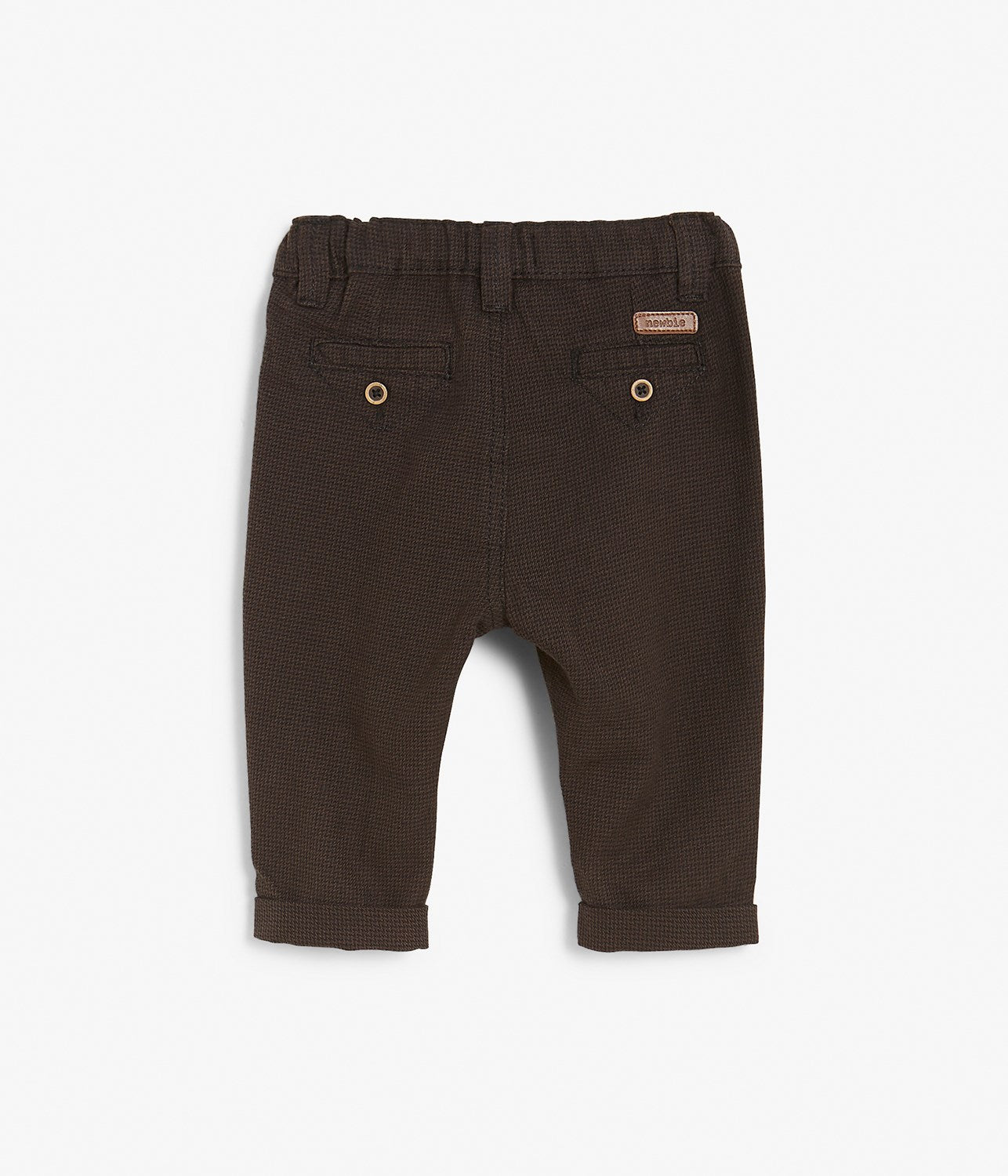 Baby brown textured trousers