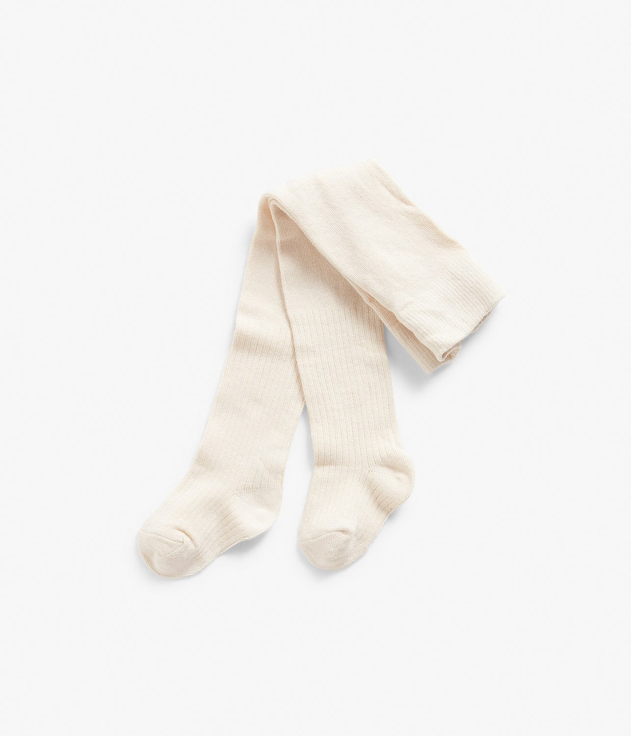 Baby ribbed cream long socks