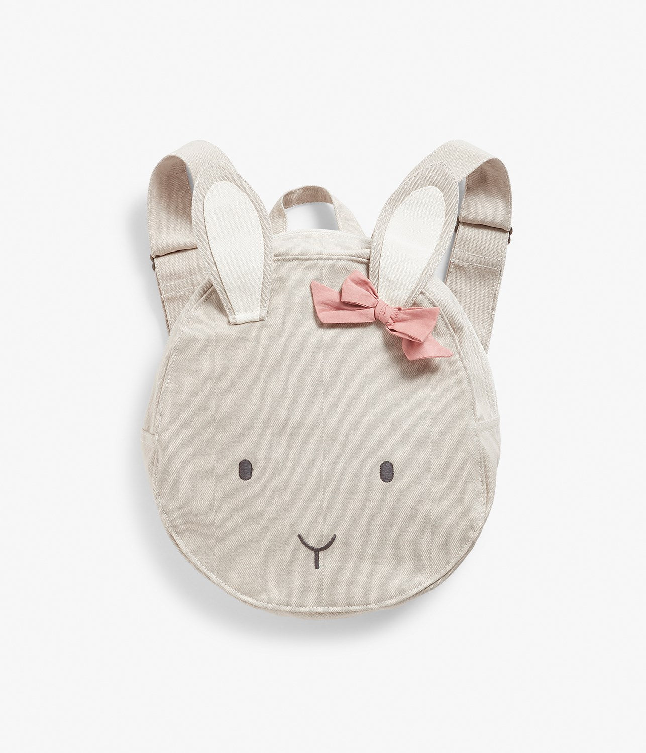 Circle rabbit backpack with bow