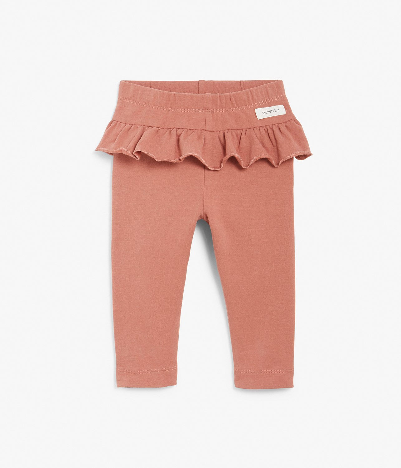 Baby pink leggings with ruffles