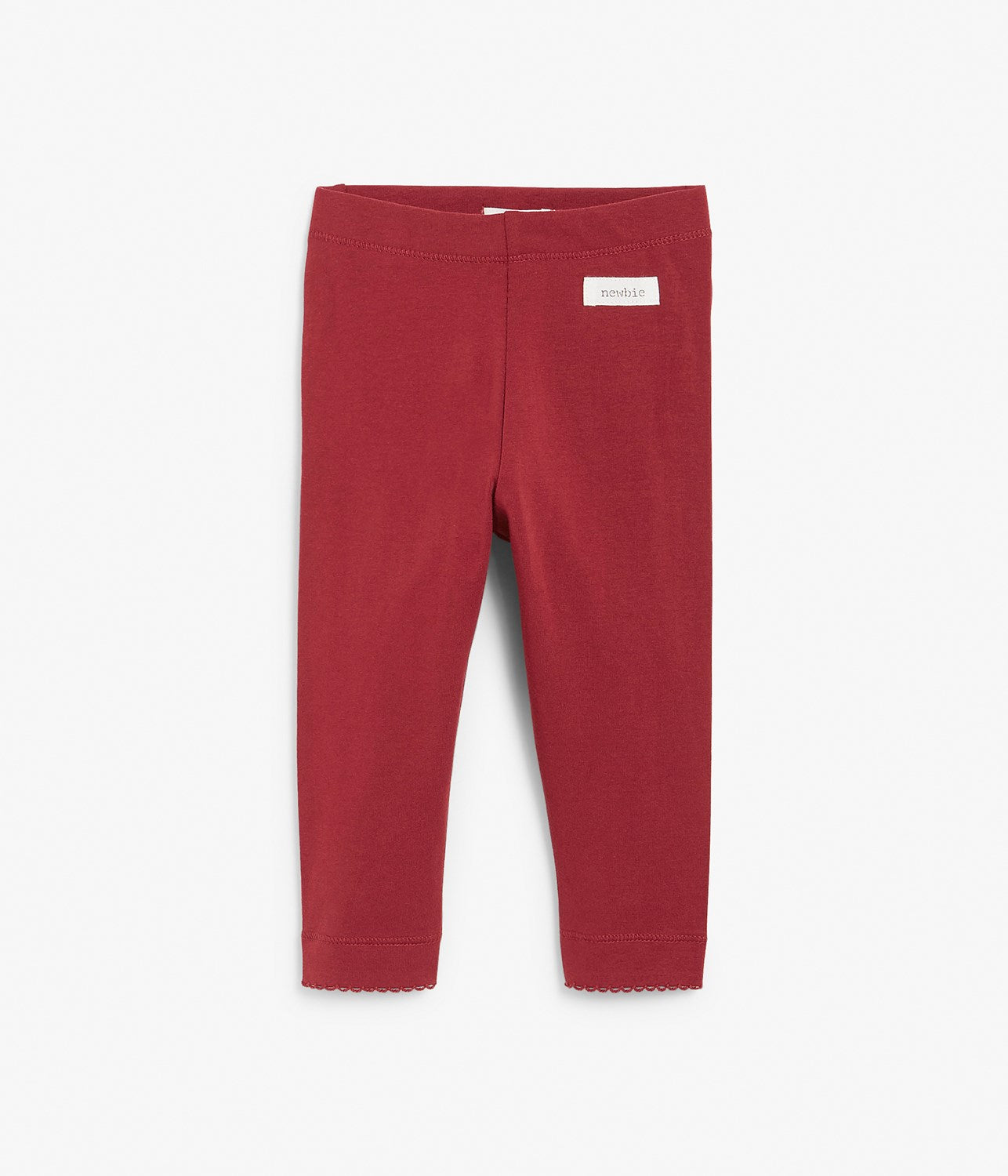 Baby red leggings with frills