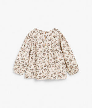 Baby beige floral print blouse