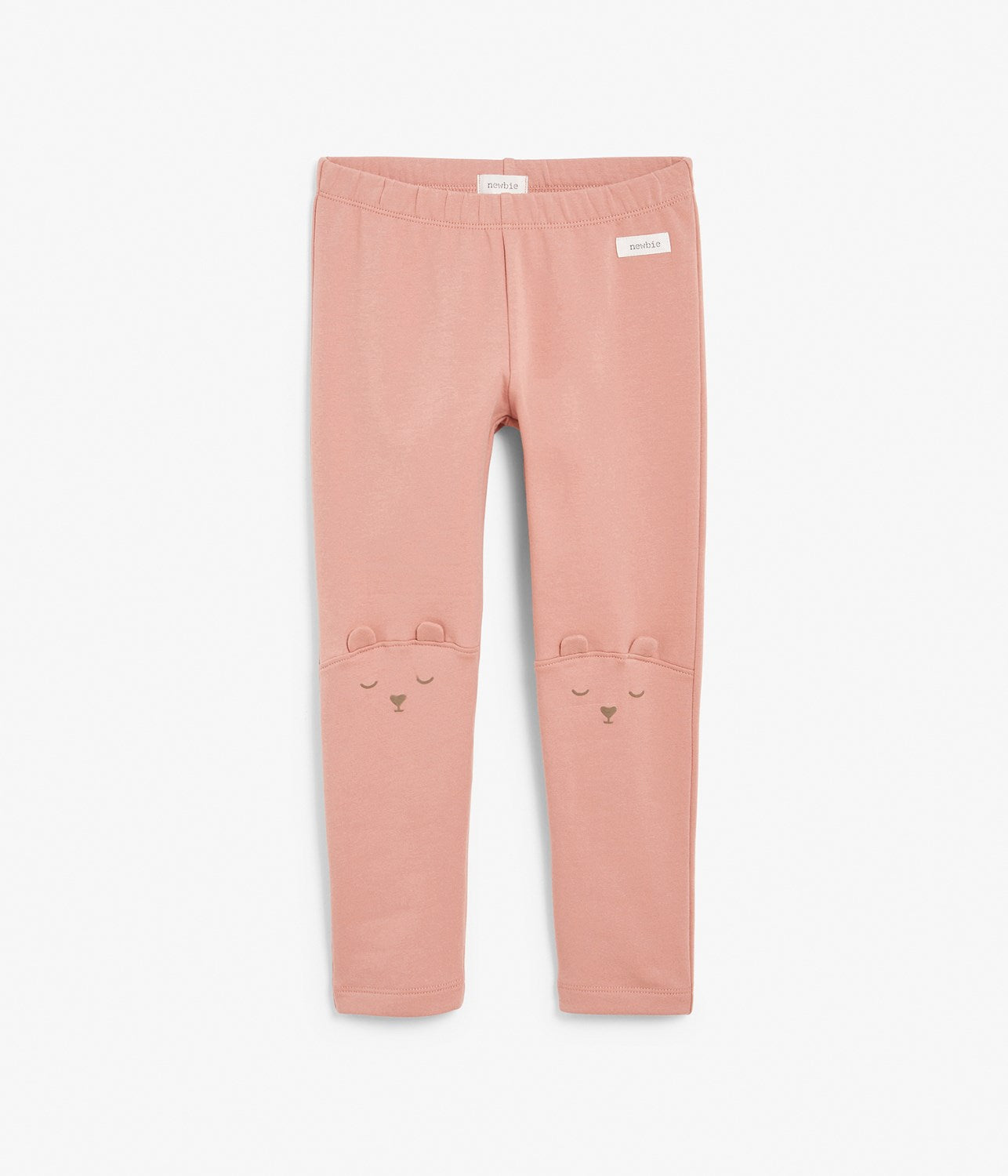 Kids pink bear face leggings