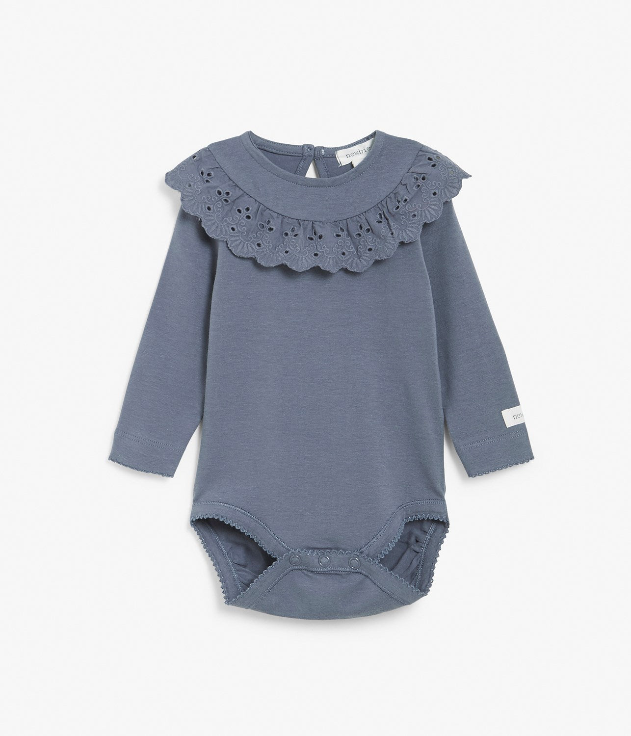 Baby blue body with frill collar