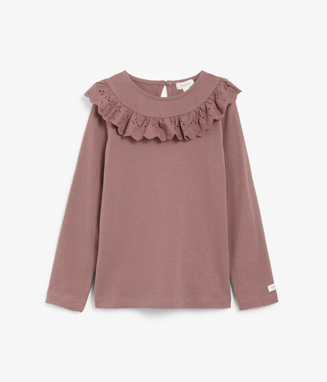 KIds pink top with lace frills