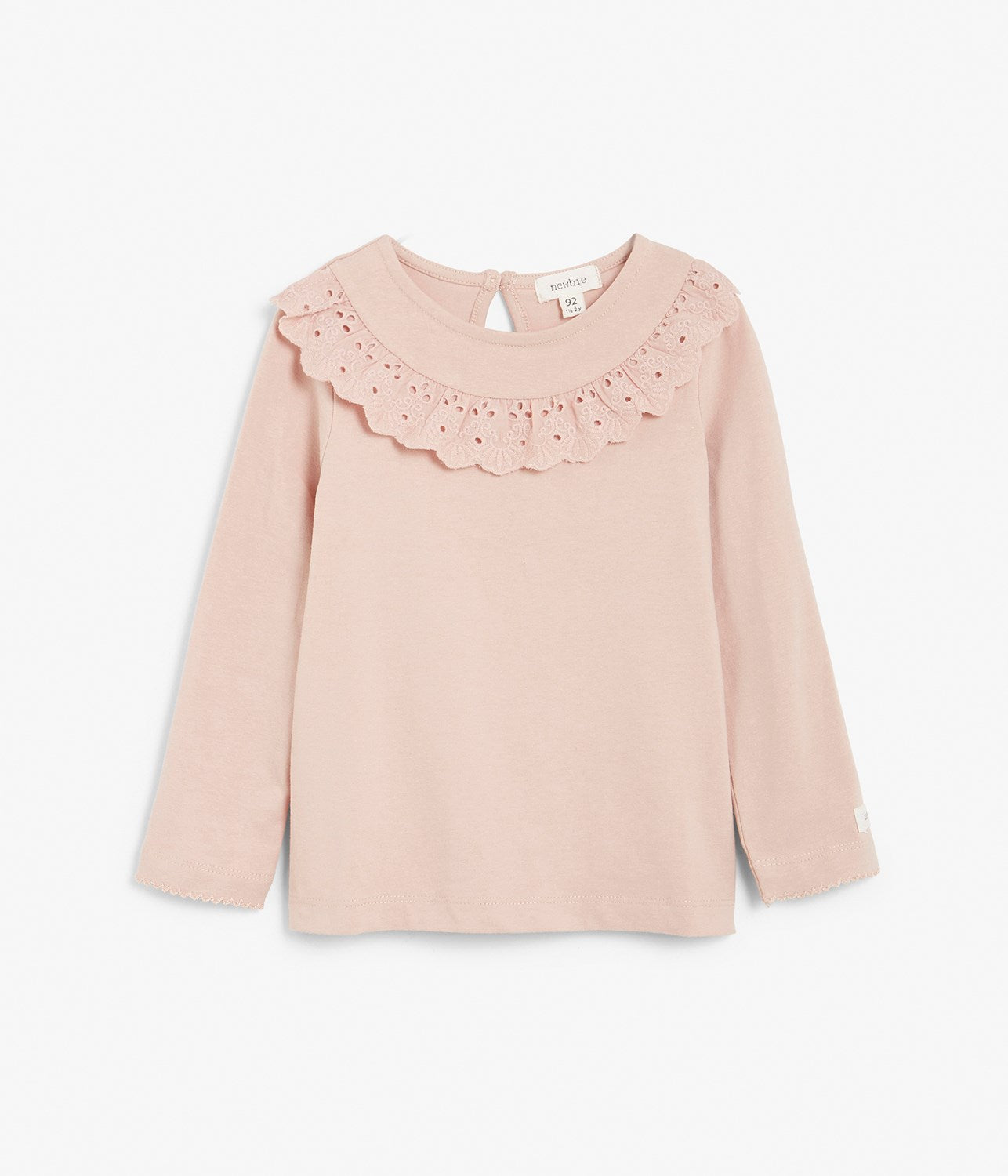 Kids pink lace long sleeve top