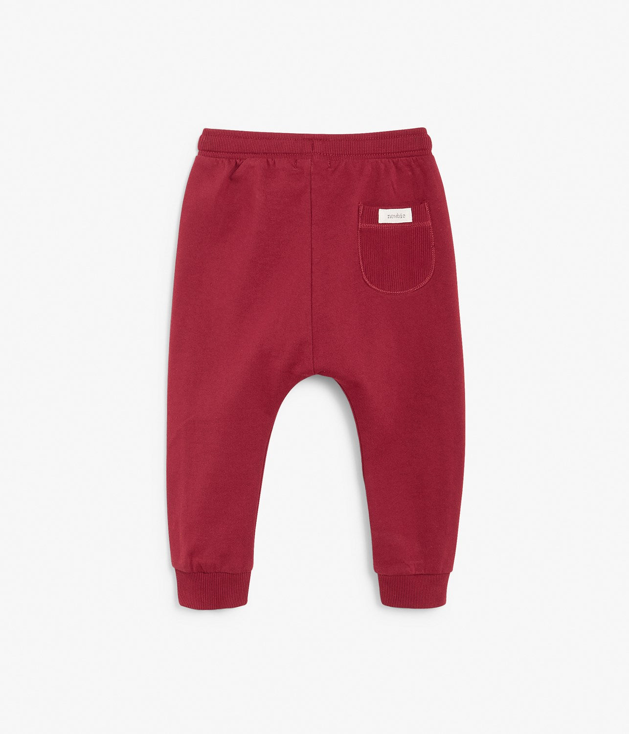 Baby red drawstring jogging trousers