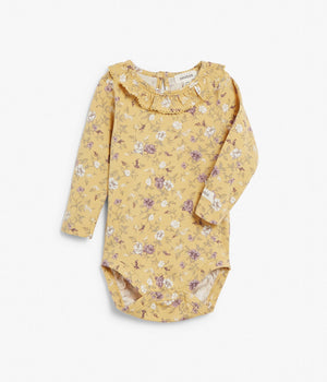Baby yellow floral print body