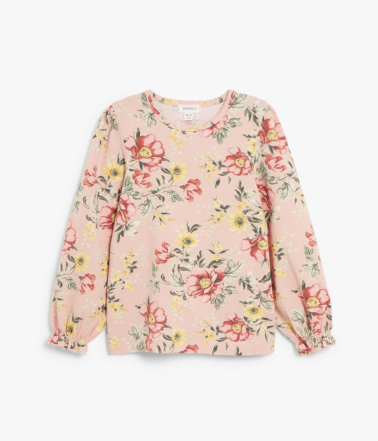 Kids floral print long sleeve top