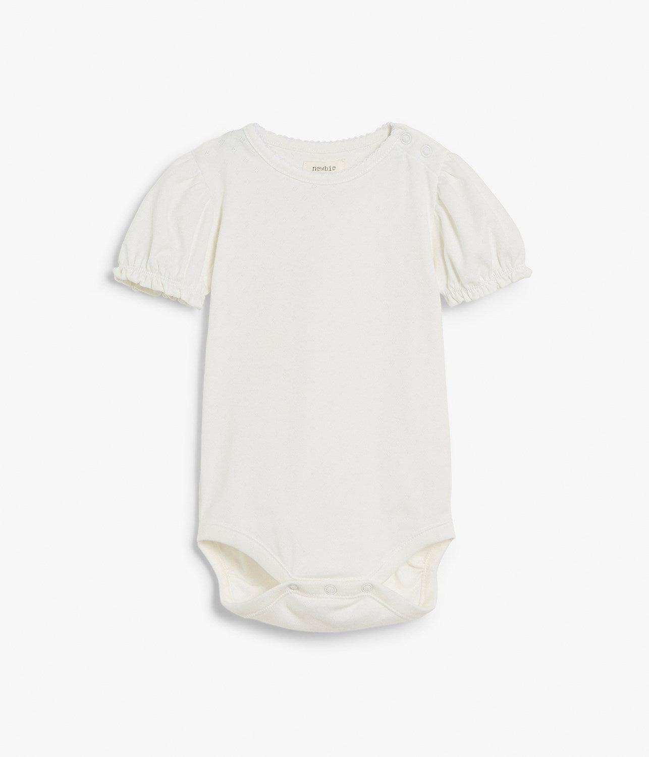 Baby white pattern body with puffed sleeves