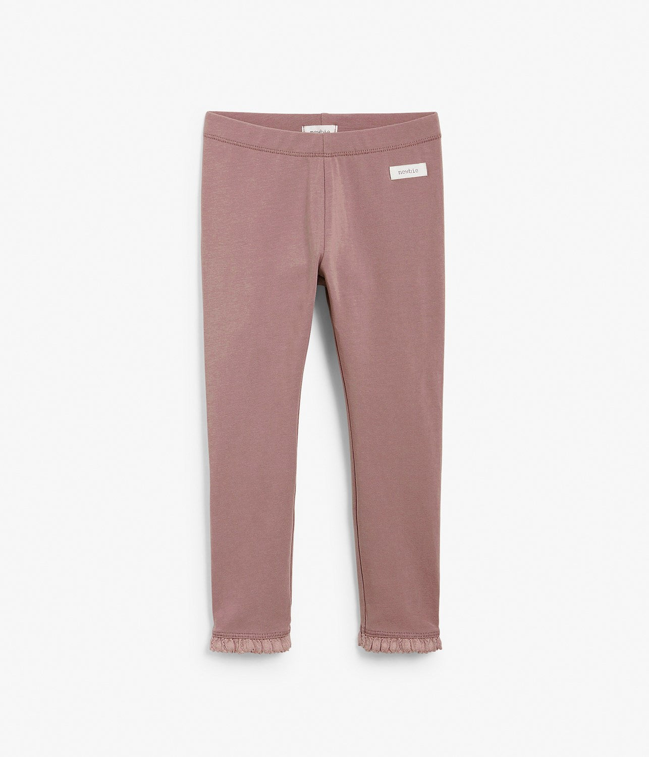 Kids pink leggings with frills