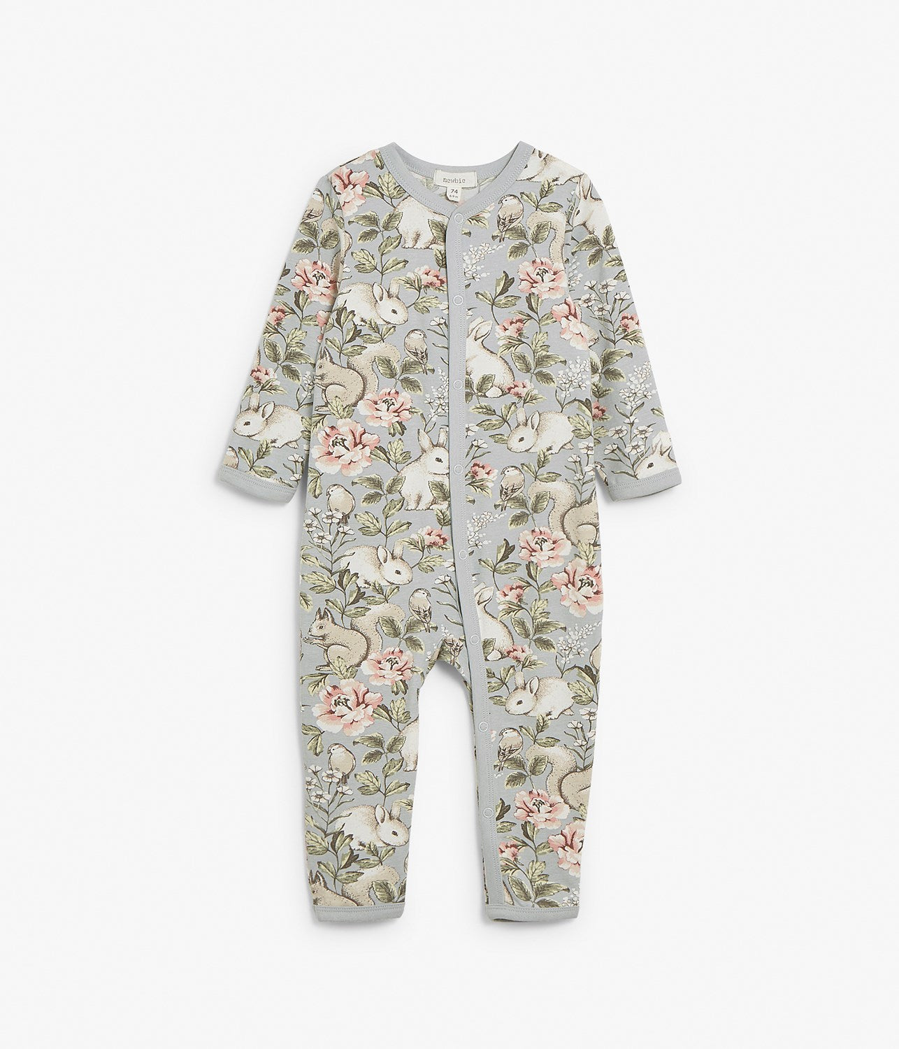 Baby blue forest print pyjamas