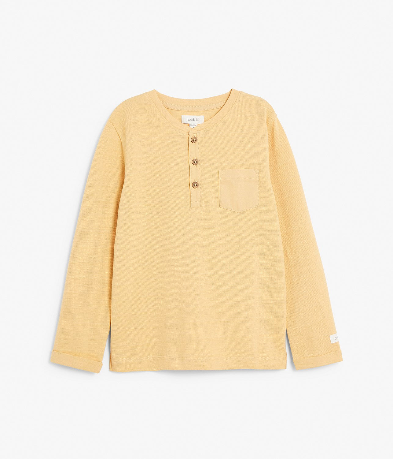 Kids beige basic long sleeve top