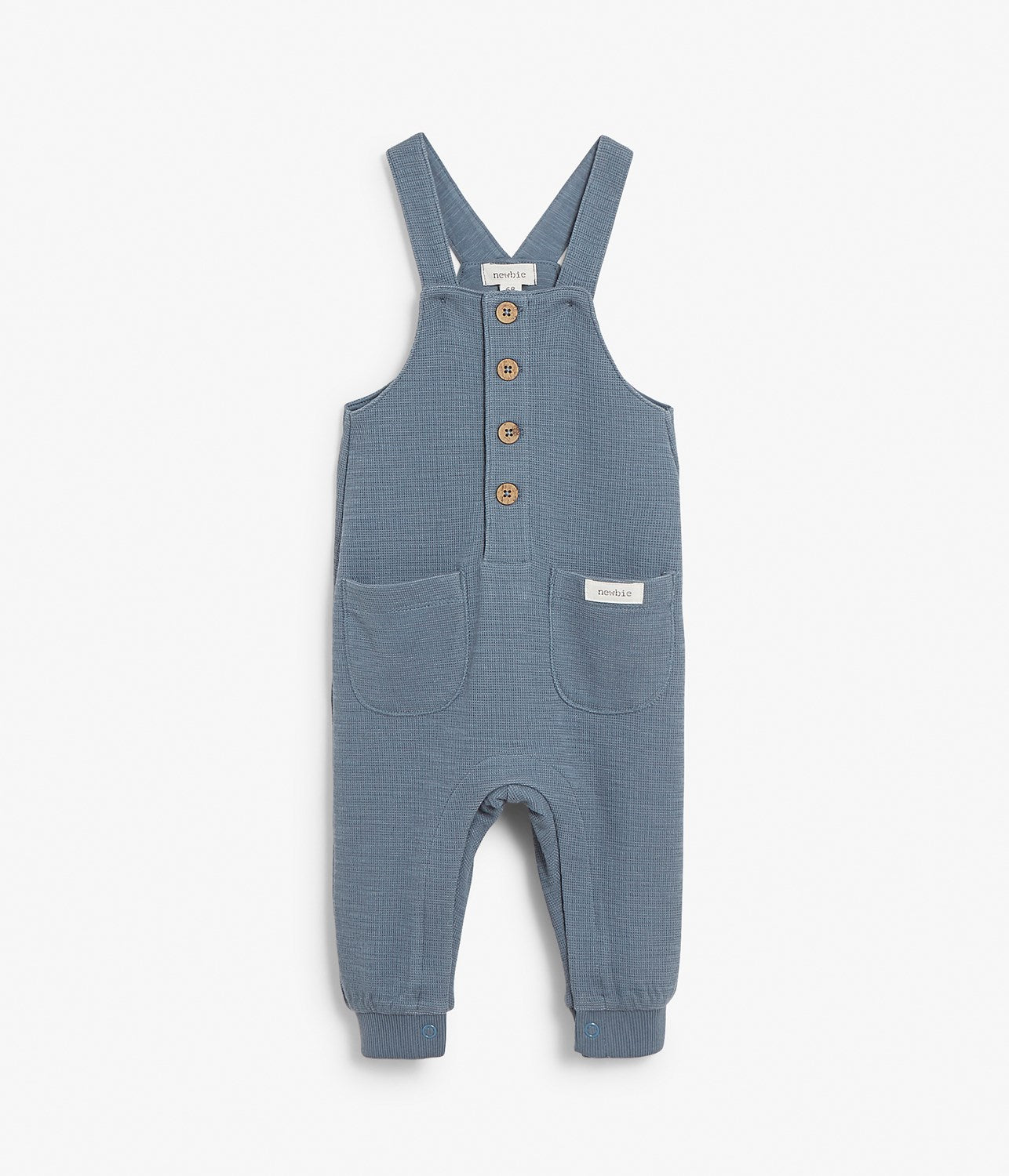 Baby blue ribbed dungarees