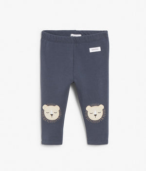 Baby blue leggings with bear face