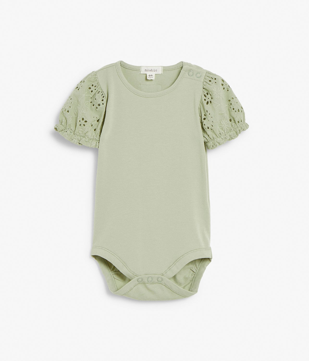 Baby green body with puffed sleeves