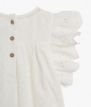 Kids white embroidery blouse