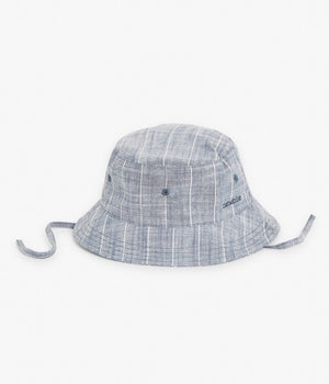 Blue & white striped bucket sun hat