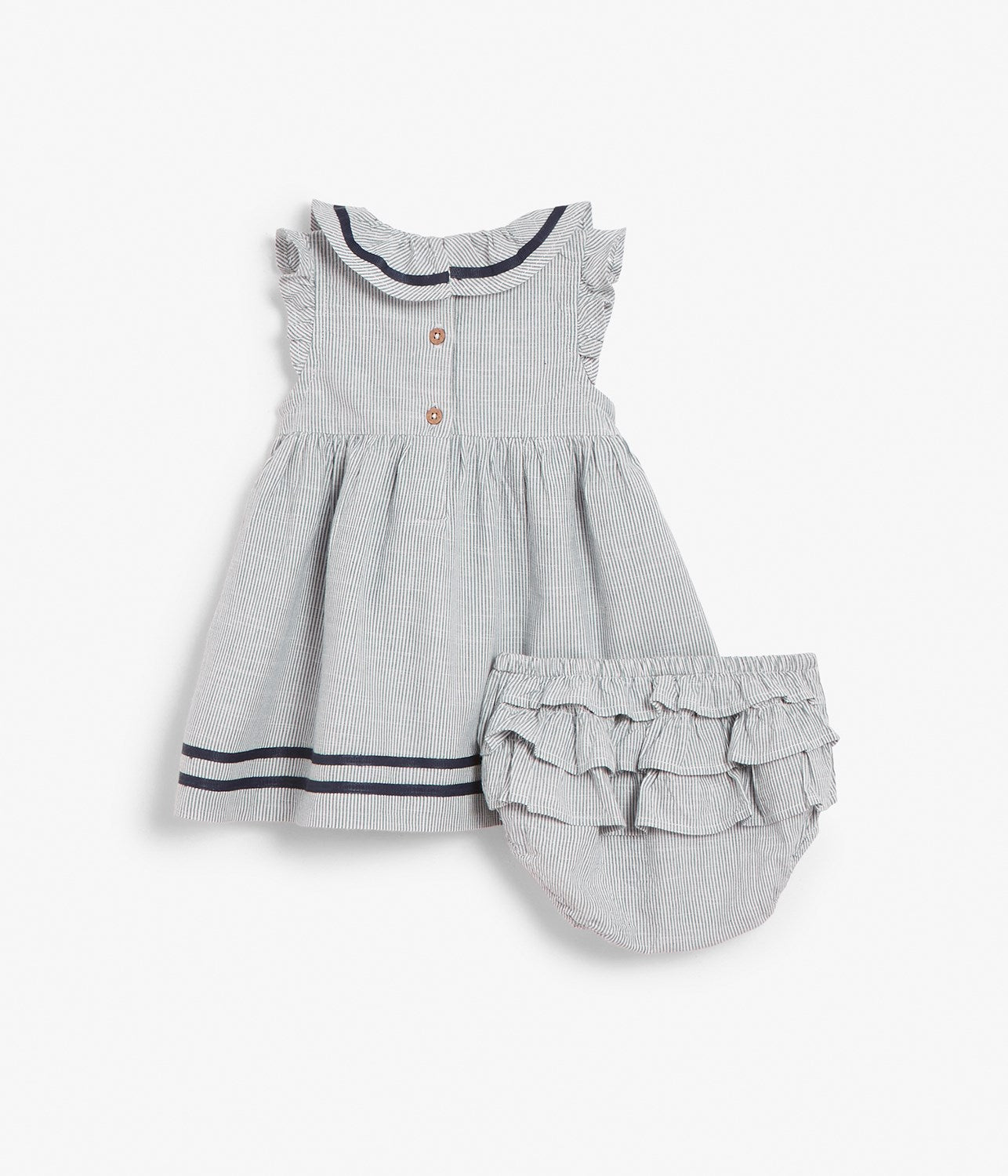 Baby sailor dress with matching bottoms
