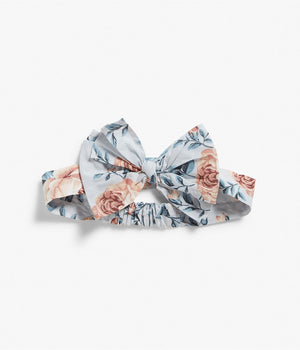 One size blue floral print headband