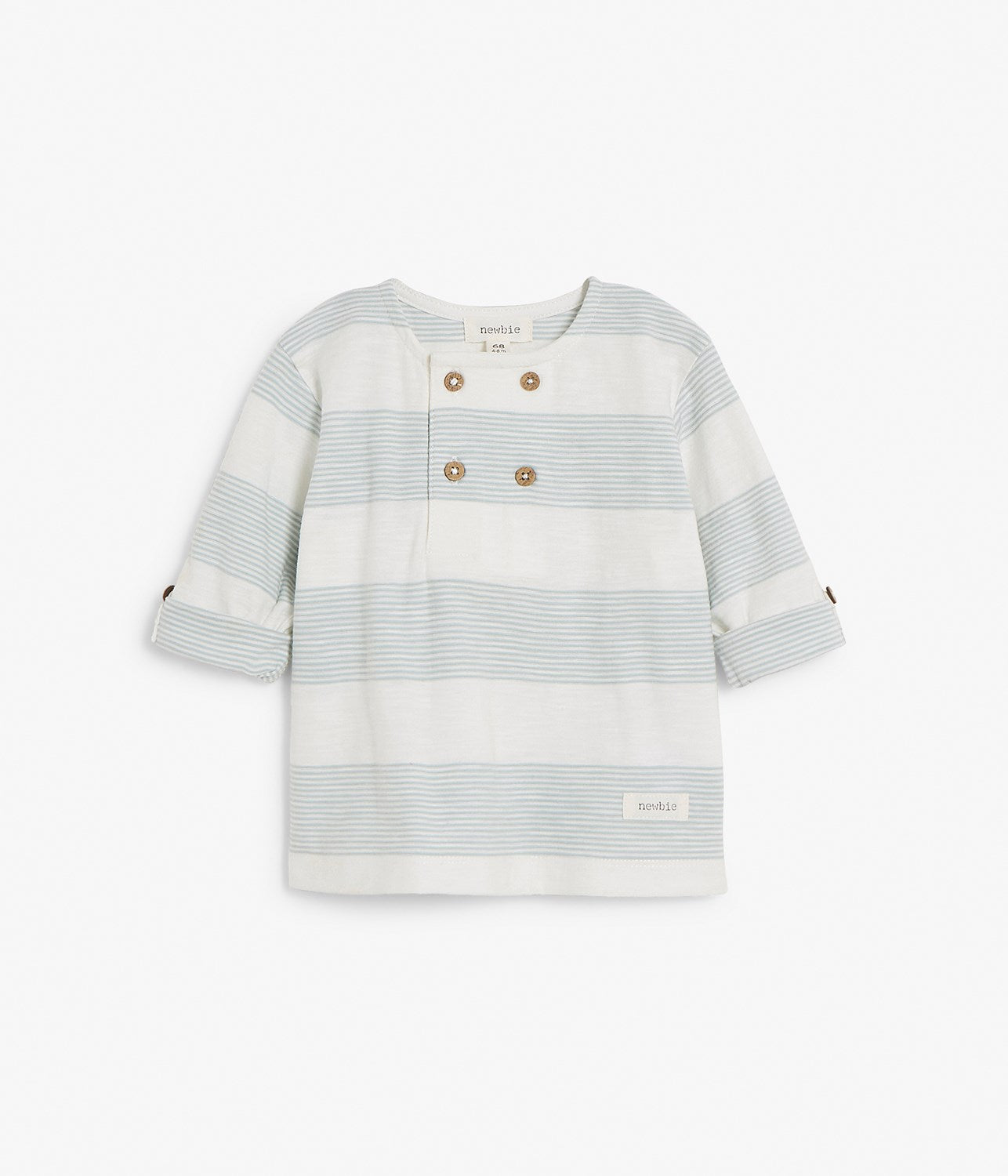 Baby turquoise striped t-shirt