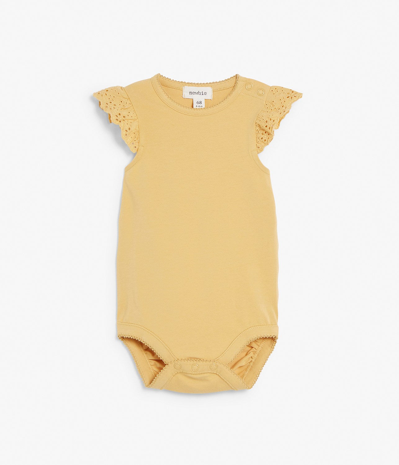 Baby yellow body with lace