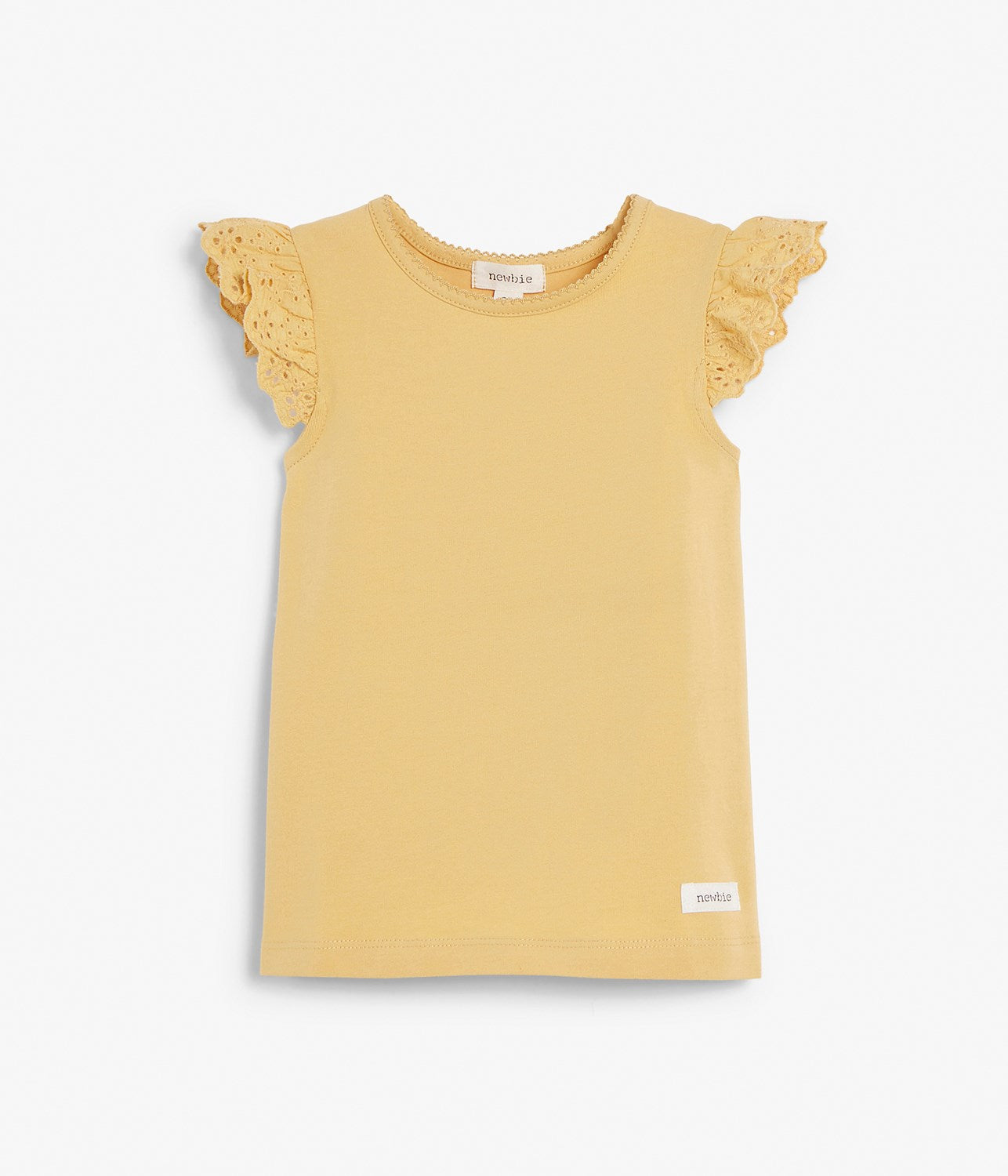Kids yellow top with frills