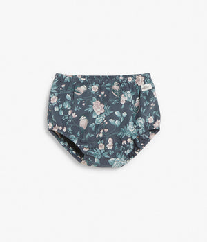 Baby navy blue floral print bloomers