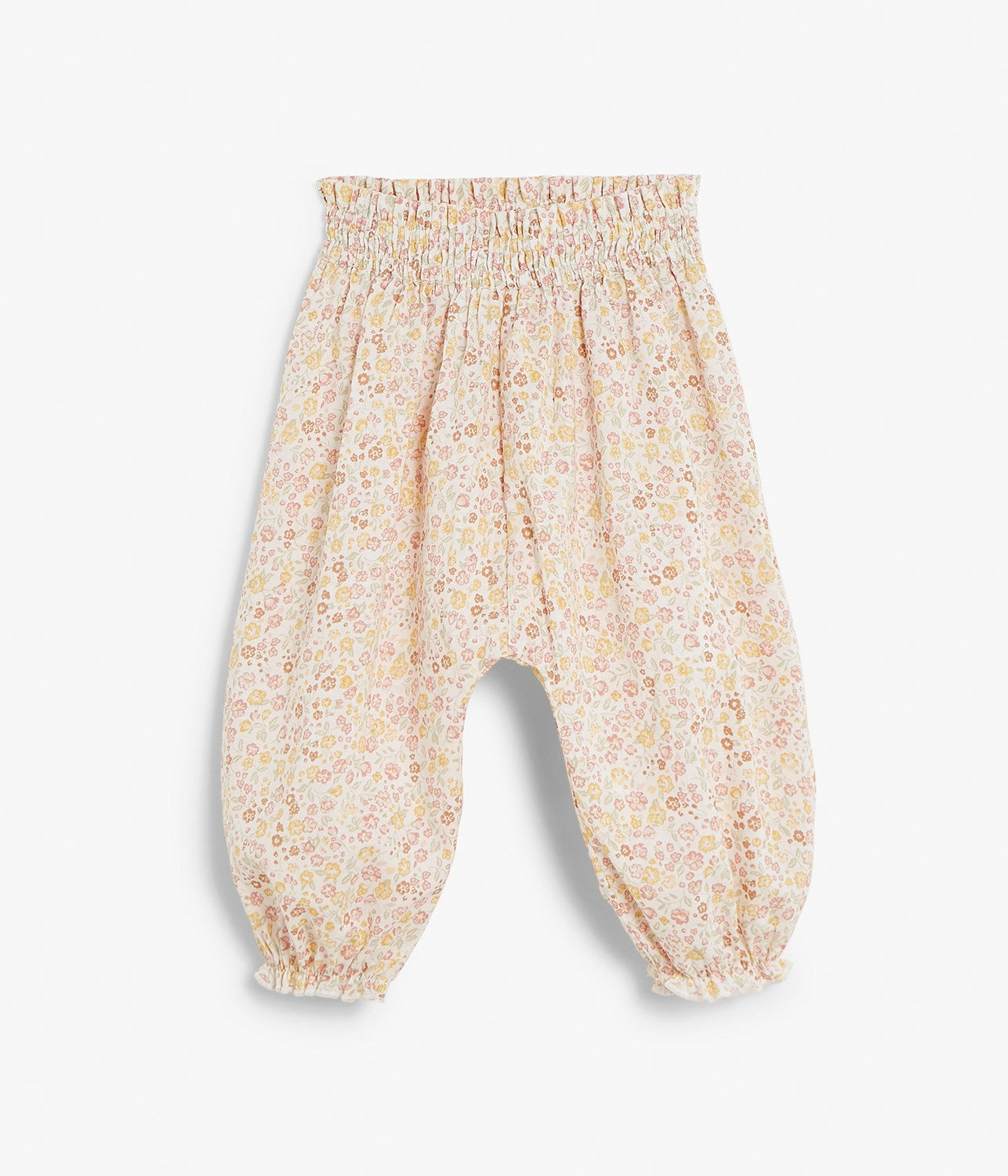 Baby floral print puffy trousers