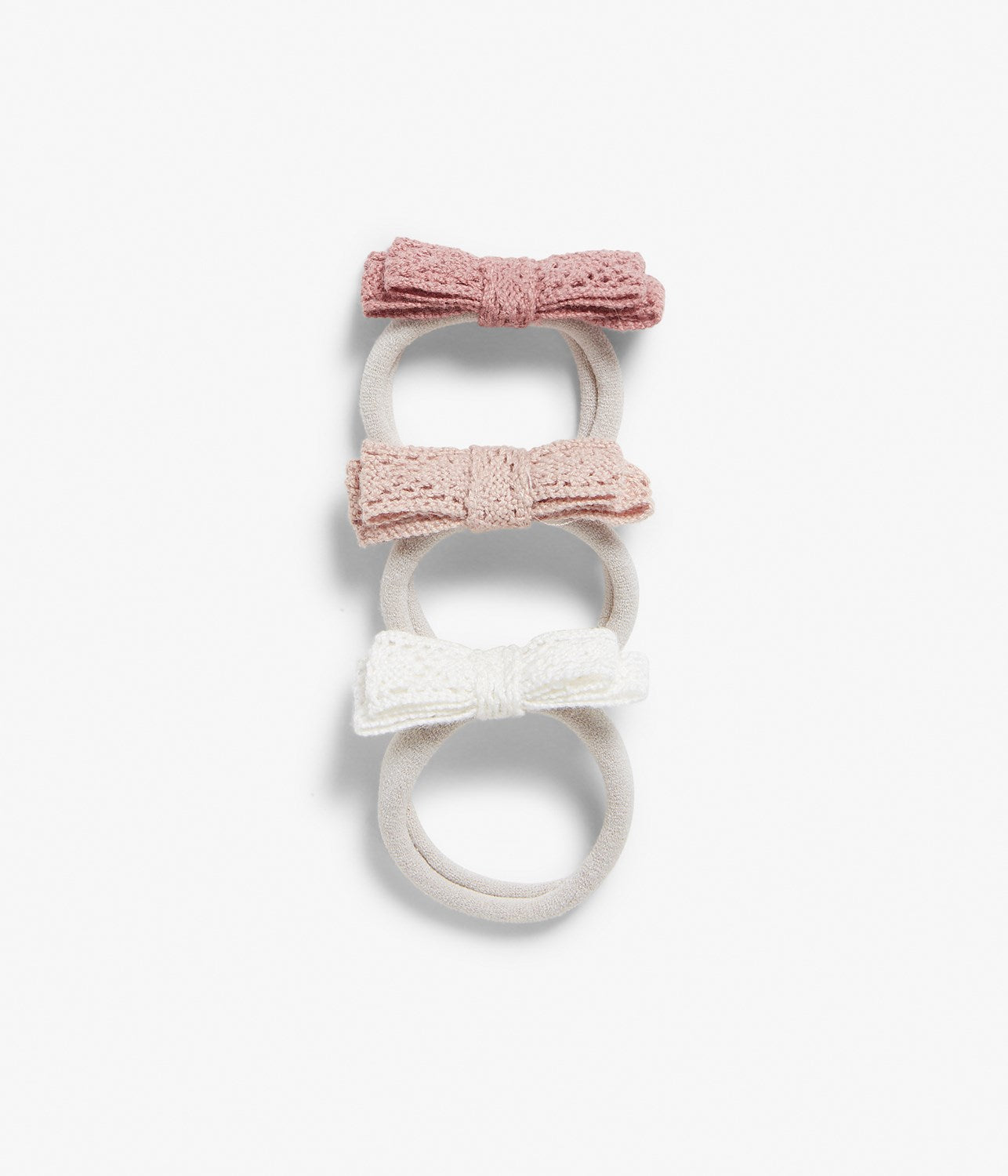 Hairband with lace bow (3-pack)