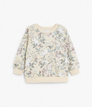 Kids yellow & forest print sweatshirt