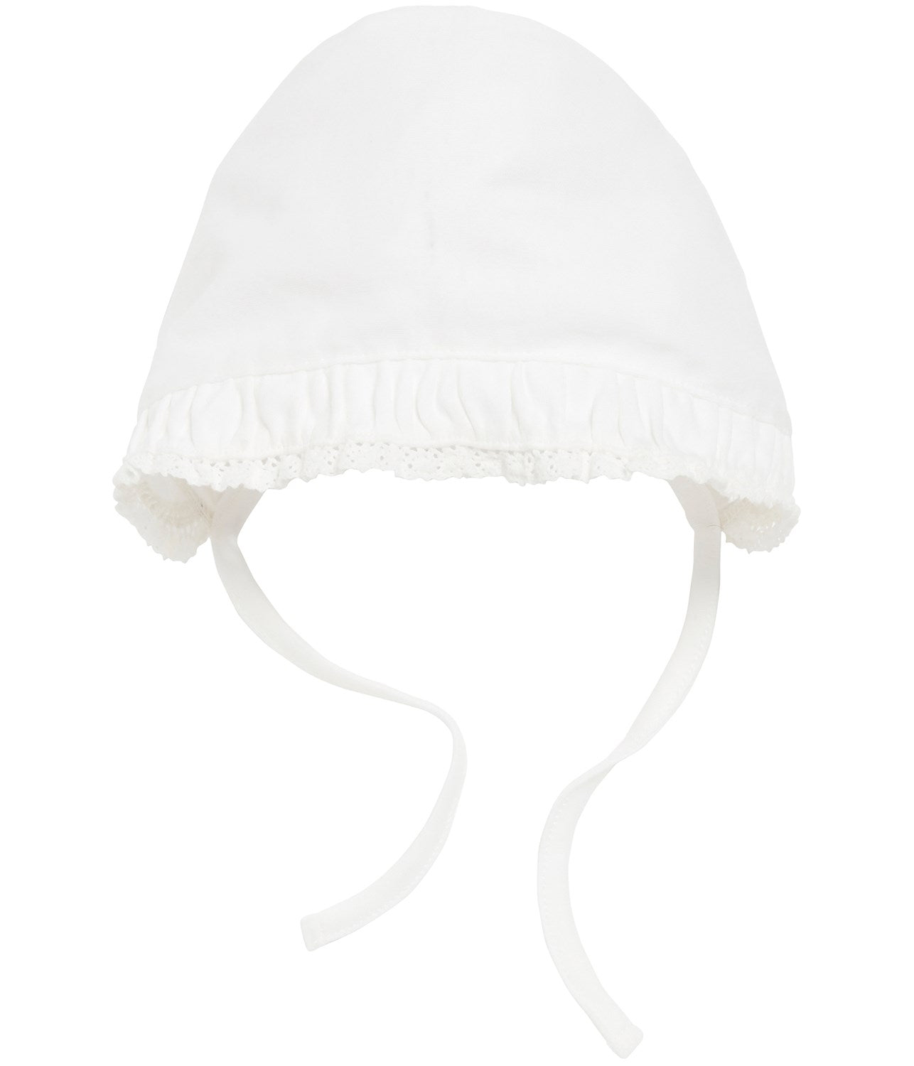 Baby hat with tie strap