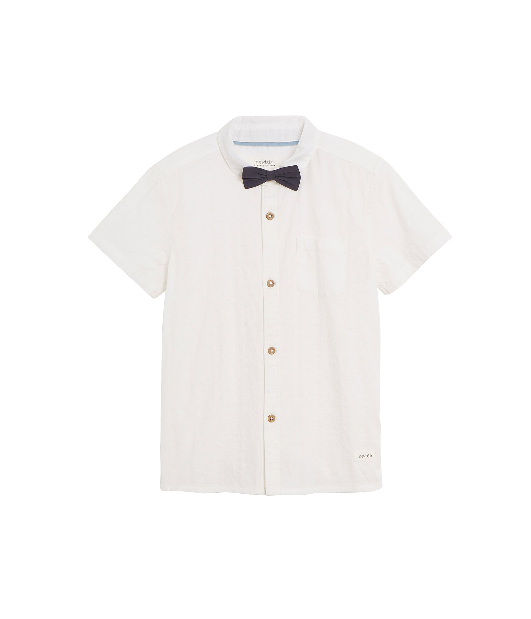 Kids button up shirt with bow tie