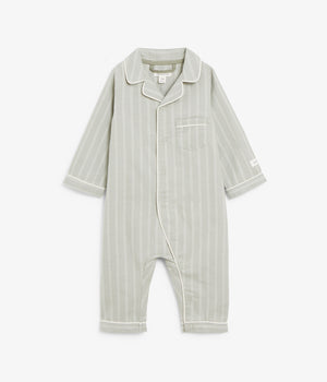 Baby green striped pyjamas