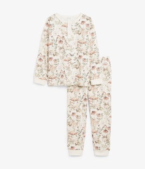 Kids beige forest print pyjamas