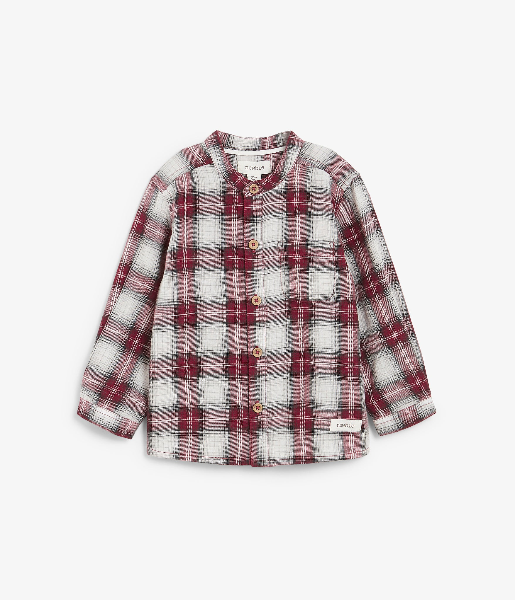 Baby red & white check pattern shirt