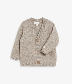 Baby beige knitted pattern cardigan