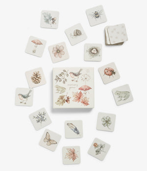 Memory game with forest print