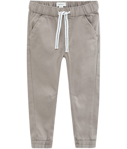 Chinos with drawstring waist