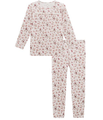 Floral pyjamas with lace