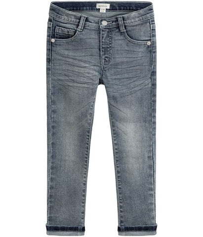 Blue slim-fit stretch jeans