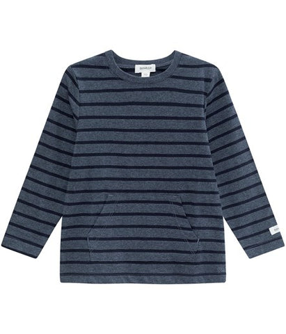 Top with stripes and front pocket