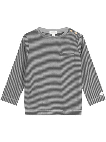 Top with stripes and buttons