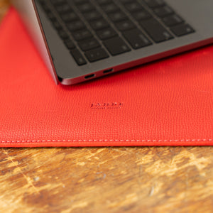 Leather Laptop Sleeve Red