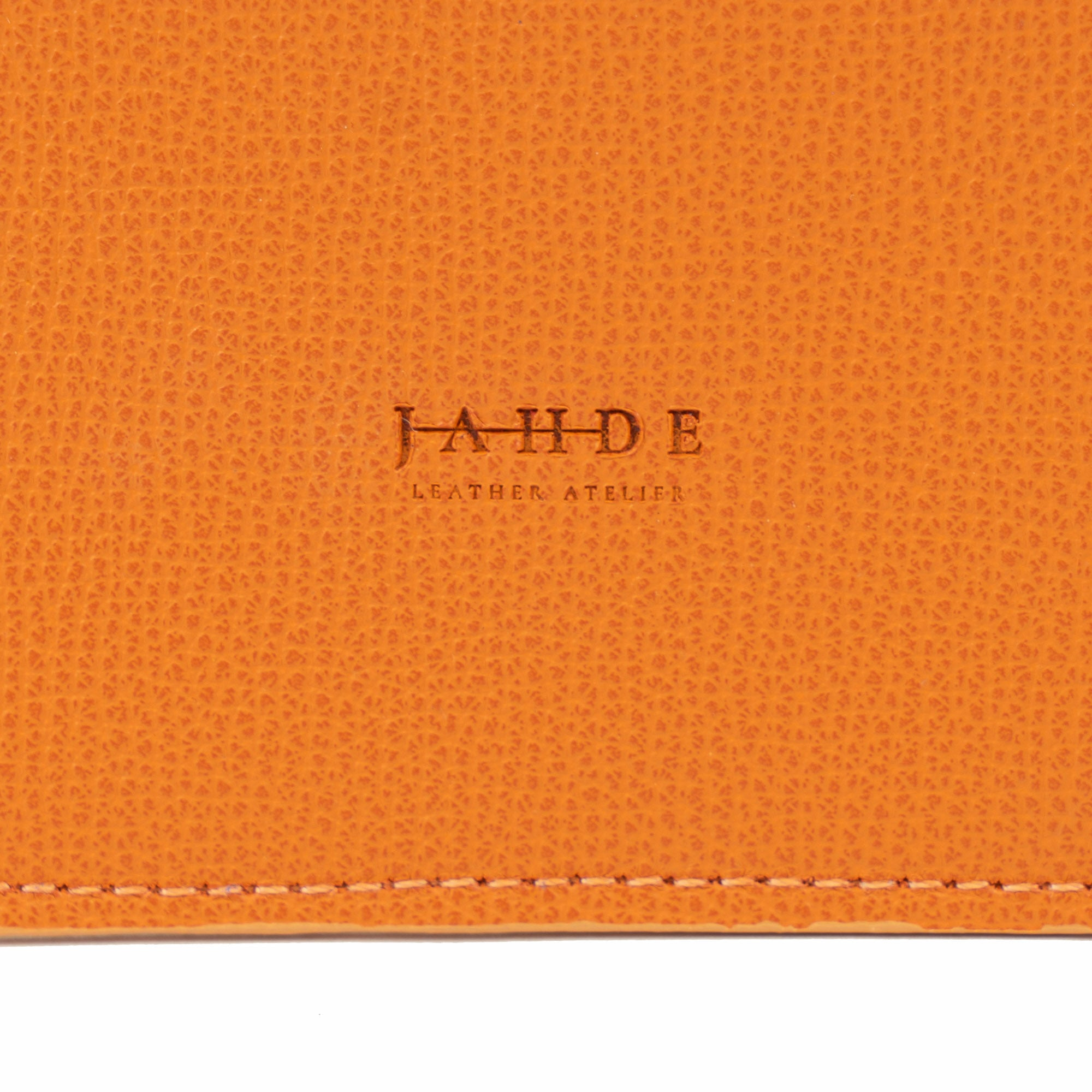 Leather Laptop Sleeve Orange