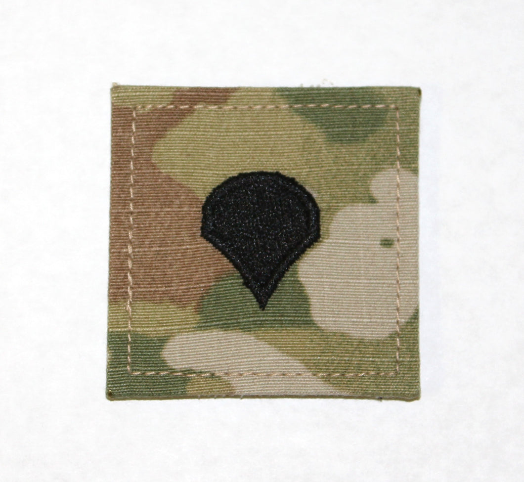 RANK W/VELCRO SPEC E-4 OCP - 0835