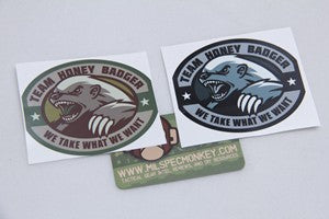 DECAL HONEY BADGER B/W - 3001