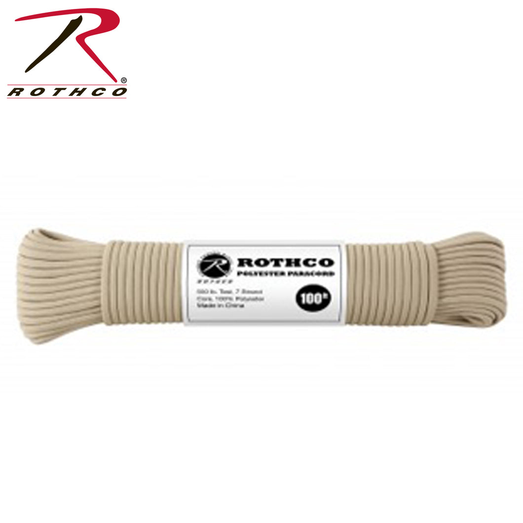 CORD 550 POLYESTER TAN 100' - 30801