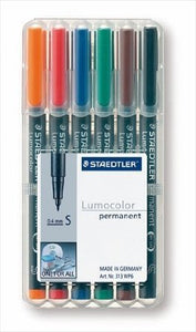 STAEDTLER 6 PK SF PERMANENT - 313-WP6