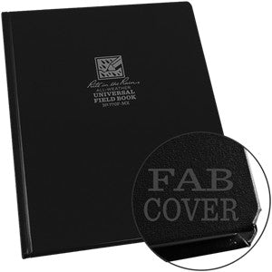 FRABRIKOID BOUND NOTEBOOK BLK - 770F-MX